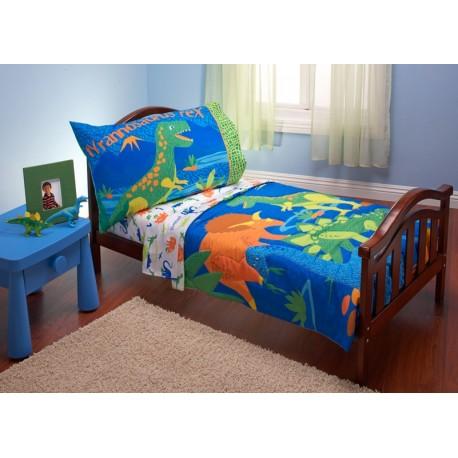 Set para cama de transición Niño Dinosaurios de 4 piezas Nojo