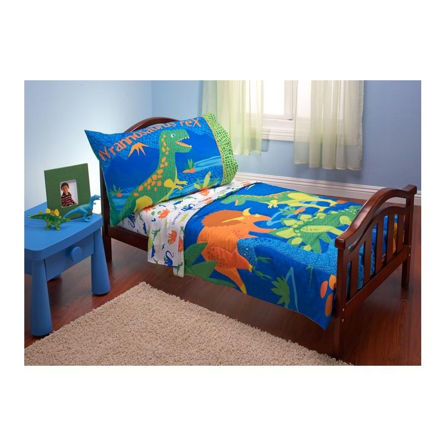 Set de cama transici n 4 piezas dinosaurios de nojo - Cama coche nino ...