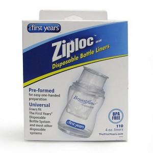 Bolsas para mamaderas anticolicos desechables 120 ml Ziploc, 50 unidades.