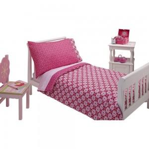 Set Corazones para cama de transición Niña de 4 piezas Nojo