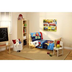 Set para cama de transición Niño Constructor de 4 piezas Nojo