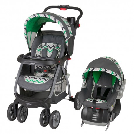 Coche Travel System Baby Trend Stone Green