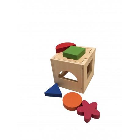 Caja de inteligencia con formas.