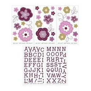 Autoadhesivos para decoracion de Muro Nojo, Linda Purpura