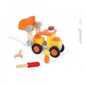 Camion Bulldozer bricolaje Janod VERDE