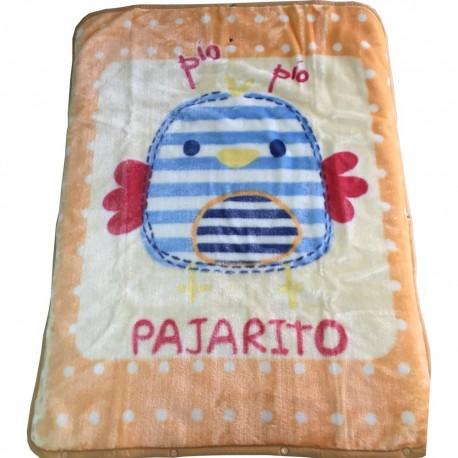 Frazada Pajarito convertible en saquito bebe