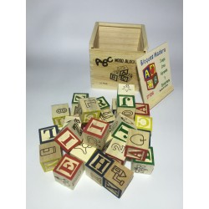 Cubo de madera 27 piezas