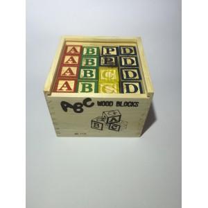 Cubo de madera 48 piezas