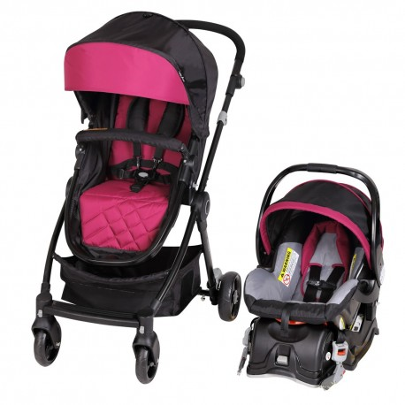 Travel system 3 en 1 Clicker rosado