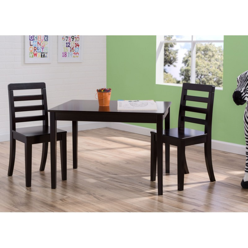 Mesa con 2 sillas para ni os madera solida for Sillas para ninos medidas