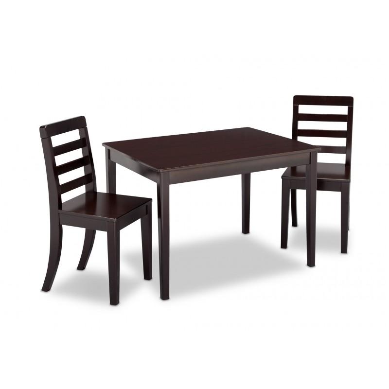 Mesa con 2 sillas para ni os madera solida for Mesa y sillas ninos