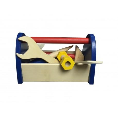 Caja de herramientas chiqui de madera para niños