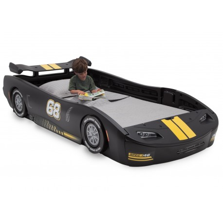 Cama Para niños twin Turbo racer Negra Delta Childrens