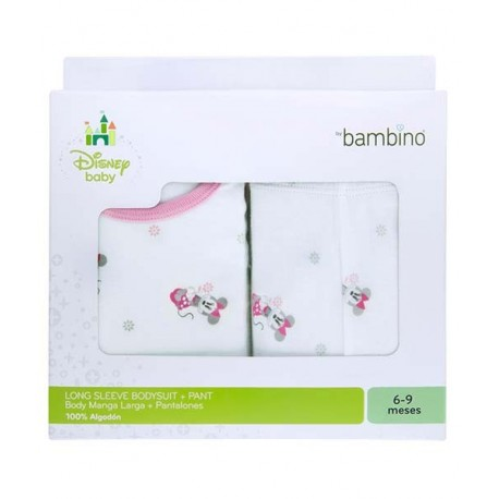 Set bambino minnie body manga larga + panty