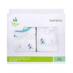 Set bambino Mickey body manga larga + panty