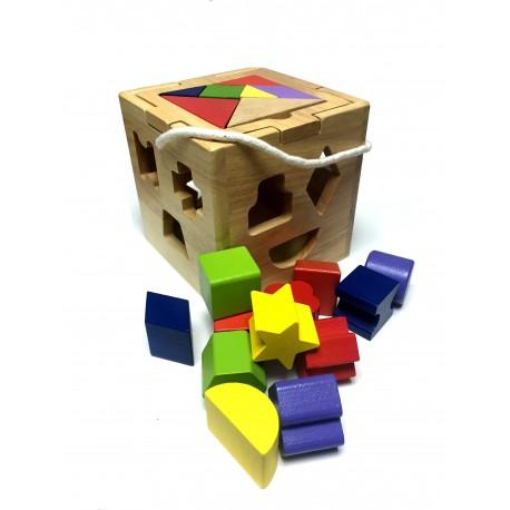 Caja inteligencia Didactica y figuras y puzzle