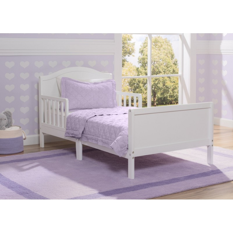 Camas de transici n bennet blanca delta children products for Cama transicion