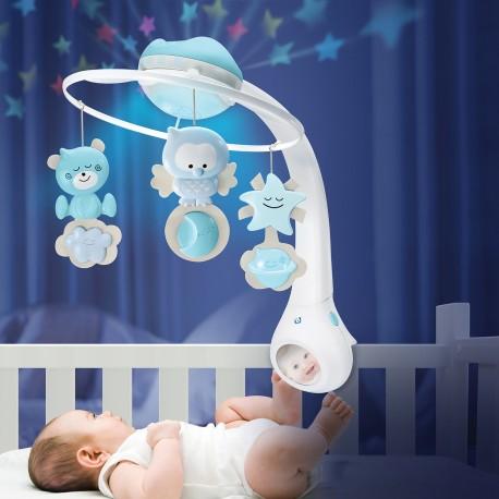 Movil Proyector 3 en 1 Infantino celeste