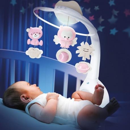 Movil Proyector rosado 3 en 1 Infantino