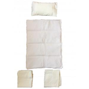 Ajuar cunas Colecho algodon Pique marfil 5 piezas para