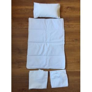 Ajuar cunas Colecho algodon Pique blanco 5 piezas para