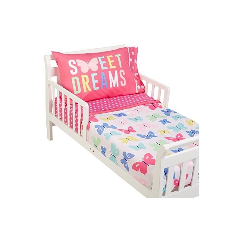 Set de cama transici n caters mariposas 4 piezas for Cama transicion