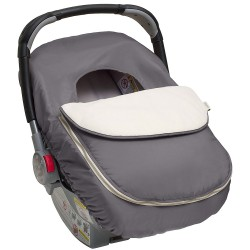 Cobertor silla de auto gris The first years