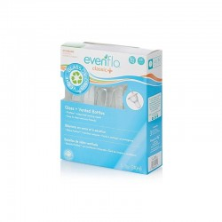 Pack 3 Mamaderas de Vidrio 240ml Evenflo Special Edition