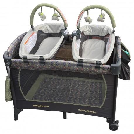 Cuna Para Gemelosl Pack Play Jax Con Mudador Y Moises Baby Trend - Cuna-para-gemelos