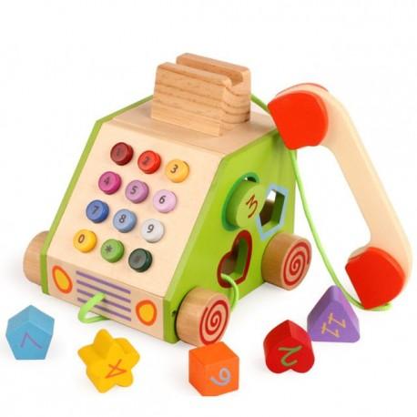 Telefono didactico de madera
