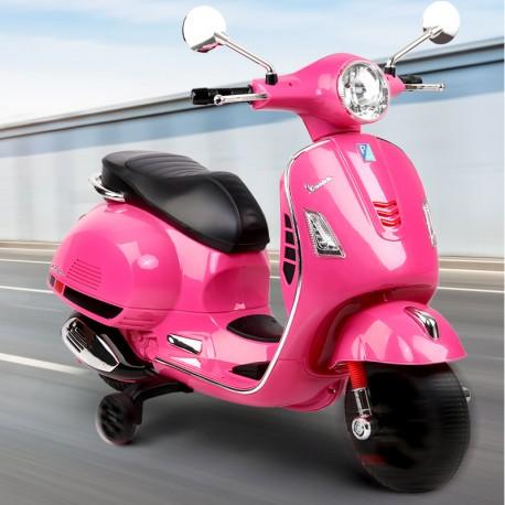 Moto Bateria Vespa rosada Bebesit