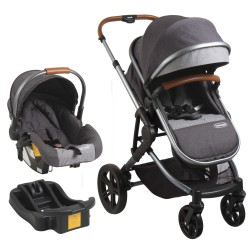Coche Travel System Aspen Air bebesit Gris