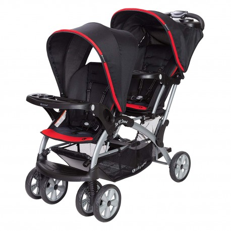 Coche Doble Sit N' Stand Optic Red Baby Trend