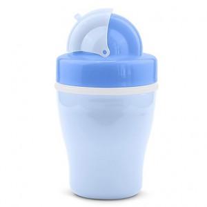 Vaso antiderrame Nuvita con bombilla Azul