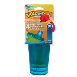 Pack 4 vasos take & toss con boquilla 296cc The first Years