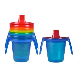Pack 4 vasos take & toss con boquilla y asas 207cc The first Years