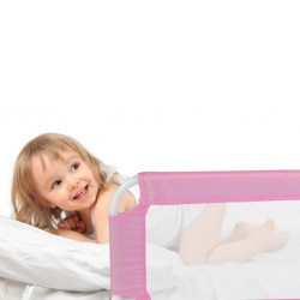 Baranda abatible para cama rosada 102cm