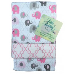 Pack 3 mantitas franela 100% algodón Elephant time