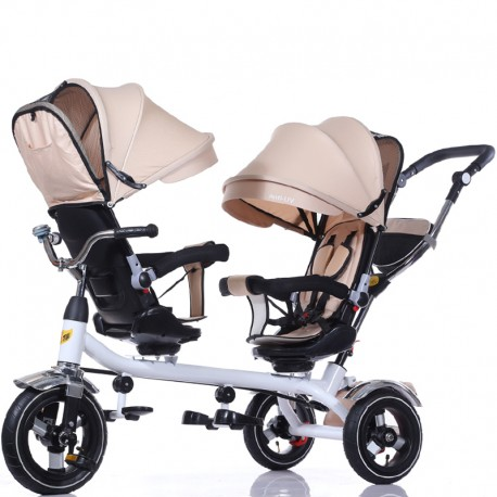Triciclo doble 360 Beige, Cobaby