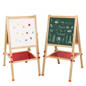 Pizarra Ajustable para niños triple, de tiza, magnética y plumon