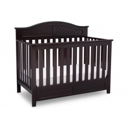 Cuna de madera 4 en 1 Bennington Eilte curved dark chocolate