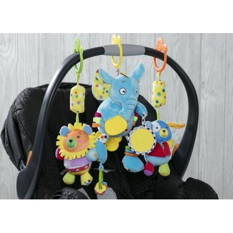 Juguete sensorial de actividades Elefante y amigos Actividades para coches y sillas de auto