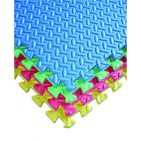 Pack 20 gomas eva 62x62x2.5 cm colores surtidos