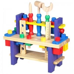 Banco de herramientas de madera para niños