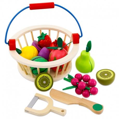 Canasto de frutas y verduras 12 piezas.