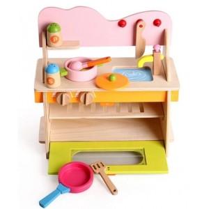 Mini Cocina de madera armable