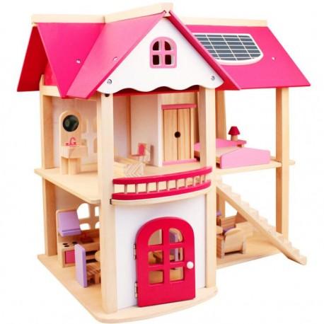 Casita de juegos Niñas y Niños Con familia y muebles