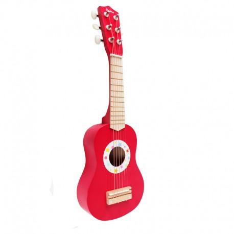 Guitarra acustica roja Unisex para niños