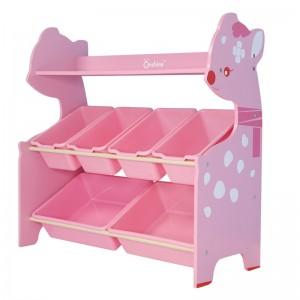 Organizador de juguetes Rosado 6 cajas Onshine