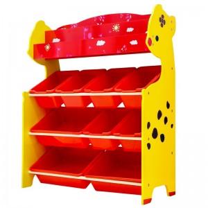 Organizador De juguetes 10 cajas con revistero Onshine rojo